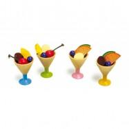 Dřevěné hračky - Kuchyně - Set 4 - zmrzlina v poháru