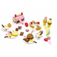 Dřevěné hračky pro holky potraviny - Box dřevěné sladkosti