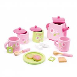 Dřevěné hračky - Dřevěný čajový set Rose