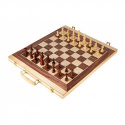 Drevené hry - Kufrík na šach a vrhcáby