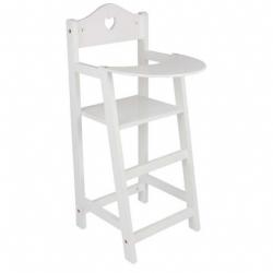 Drevená stolička pre bábiky biela