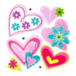 Samolepiace dekorácie na stenu Srdce