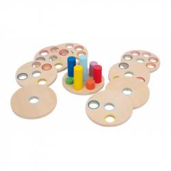 Drevené hračky - Logická drevená nasúvacia hra