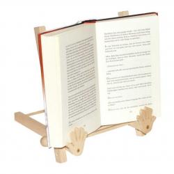 Drevený držiak stojan na otvorenú knihu