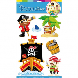 Samolepiace dekorácie na stenu Piráti