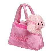 Dětská růžová kabelka - Pudl v kabelce Trixi