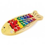 Dětské hudební nástroje - Dřevěný xylofon Ryba