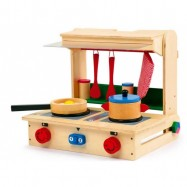 Dřevěné hračky pro holky - Velká kuchyňka v kufříku Profi