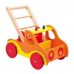Drevené hračky - Drevené chodítko Hasiči