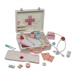 Drevená hračka - Detský drevený doktorský kufrík Isabel