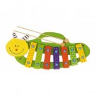 Dětské dřevěné hudební nástroje- Xylofon housenka