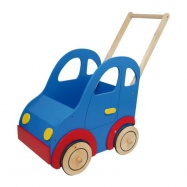 Dřevěné hračky - Kočárek autíčko pro panenky