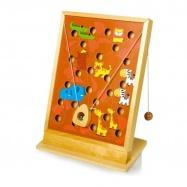 Dřevěná motorická hra s kuličkou - Afrika
