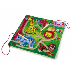 Drevené hračky - drevené hry - Magnetický labyrint Zoo