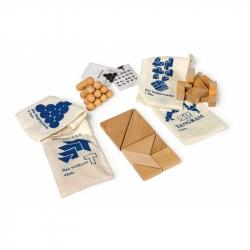 Dřevěné hry - Dřevěné hlavolamy set 4ks v pytlících