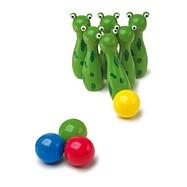 Dřevěné hry - Kuželky žabky