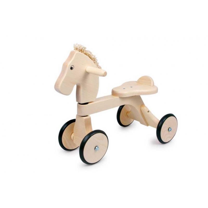 Dřevěné hračky - Dřevěné odrážedlo koník Pauli
