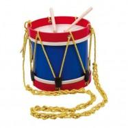 Dětské hudební nástroje - Dřevěný buben s popruhem
