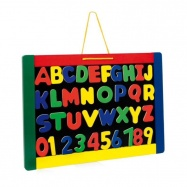 Dřevěné hračky - Dětská tabule Gabriel s písmeny