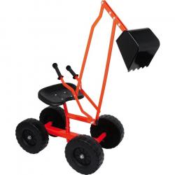 Dřevěné venkovní hračky - Bagr s kolečky