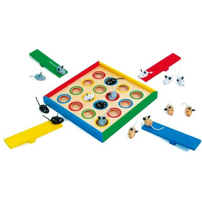 Dřevěné hry - Hra Kloboučku hop Myšky