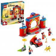 Hasičská stanica a auto Mickeyho a jeho priateľov