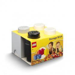 LEGO úložné boxy Multi-Pack 3 ks - černá, bílá, šedá