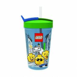 LEGO ICONIC Boy kelímok s slamkou - modrá / zelená