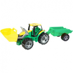 Traktor sa lyžicou a prívesom