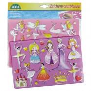 Kreslící šablony ( princezny, baletky)