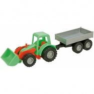 LENA 01240 Mini Zest Traktor z przyczepą 26 cm