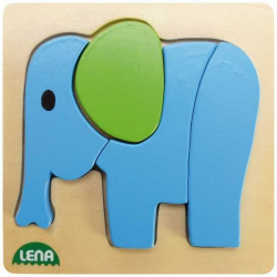 Drevené puzzle, slon