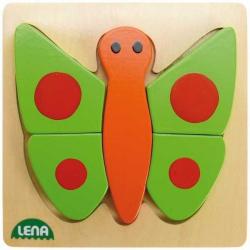 Drevené puzzle, motýľ