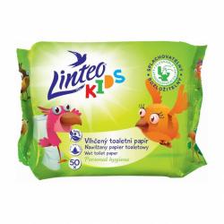 Dětský vlhčený toaletní papír Linteo KIDS 50ks