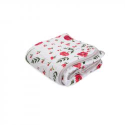 Mušelínová deka 120x120cm Summer Poppy