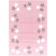 Detský koberec BORDERSTAR růžovosivý 120x180 cm