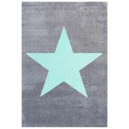 Detský koberec STAR striebornošedý / mätový 120x180 cm