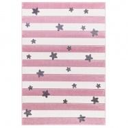 Detský koberec STARS STRIPES růžový 120x180 cm