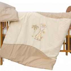 Komplet poszewek na pościel do łóżeczka Liza - cappuccino