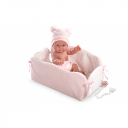 Lalka bobas Bebita w kojcu 26 cm Llorens