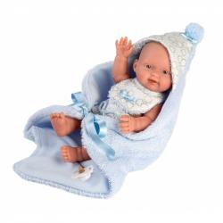 Llorens 26307 NEW BORN chlapček - realistická bábika bábätko s celovinylovým telom - 26 cm