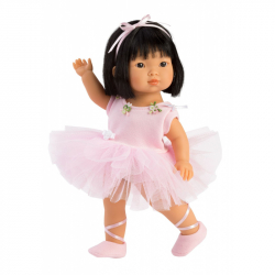 Llorens 28031 LU BALLET - realistická bábika s celovinylovým telom - 28 cm