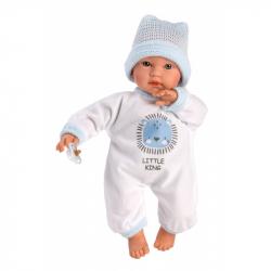 Llorens 30009 CUQUITO bábika bábätko sa zvuky a mäkkým látkovým telom - 30 cm