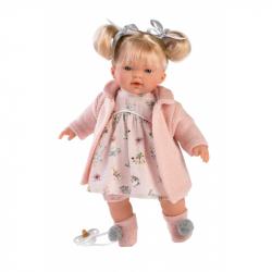 Llorens 33112 AITANA - realistická bábika so zvukmi a mäkkým látkovým telom - 33 cm
