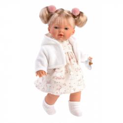 Llorens 33116 ROBERTA - realistická bábika so zvukmi a mäkkým látkovým telom - 33 cm