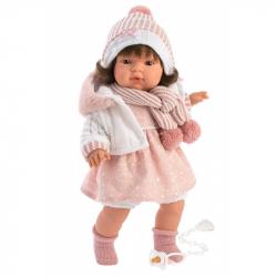 Llorens 38562 LOLA - realistická bábika so zvukmi a mäkkým látkovým telom - 38 cm