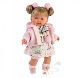 Llorens 42270 ALEXANDRA - realistická bábika so zvukmi a mäkkým látkovým telom - 42 cm