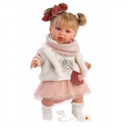 Llorens 42402 JULIA - realistická bábika so zvukmi a mäkkým látkovým telom - 42 cm