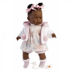 Llorens 42644 NICOLE - realistická bábika so zvukmi a mäkkým látkovým telom - 42 cm