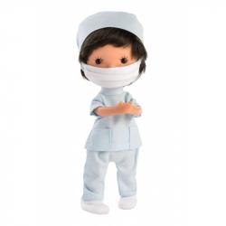 Llorens 52612 MISS MINIS ZDRAVOTNÉ BRATR - bábika s celovinylovým telom - 26 cm